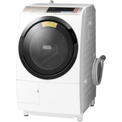 日立 11kg/6kg ヒートサイクル風アイロン「ビッグドラム」スリムタイプドラム式洗濯機(シャンパン) BD-SV110BL-N