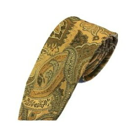その他 グランネクタイ 西陣手縫いネクタイ 希少生地シリーズ ペイズリー ブラウンゴールド ds-2054022