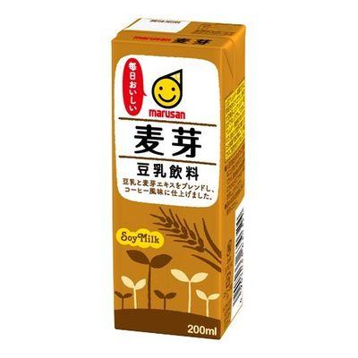マルサンアイ マルサン 豆乳飲料 麦芽 200mL*12本入 4901033000073【納期目安:2週間】