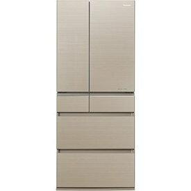 パナソニック 650L 6ドア フレンチドア冷蔵庫 (マチュアゴールド) NR-F654HPX-N