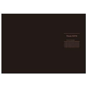 その他 (まとめ) 高橋政史xNakabayashi ロジカルシンクノート A3・ヨコ/5mm方眼ブラック・グレー罫/40枚 RP-A301-DN【×10セット】 ds-2075366