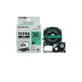 その他 (まとめ) キングジム テプラ マグネットテープ (緑テープ/黒文字/36mm幅) SJ36G 【×2セット】 ds-2104097