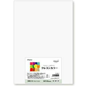 その他 (まとめ) 長門屋商店 いろいろ色画用紙クレヨンカラー A4 ゆき(白) ナ-CR011 1パック(20枚) 【×10セット】 ds-2116824