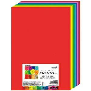 その他 (まとめ) 長門屋商店 いろいろ色画用紙クレヨンカラー A4 10色×各2枚 ナ-CR902 1パック(20枚) 【×10セット】 ds-2116913