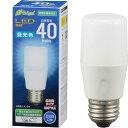 オーム電機 LED電球 T形(40形相当/600lm/昼光色/E26/全方向配光255°/密閉形器具対応) LDT4D-G-AG20