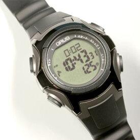 d5720b923d GRUS 腕時計 電波 ウォーキングウォッチ ペースキーパー機能付 GRS005-01