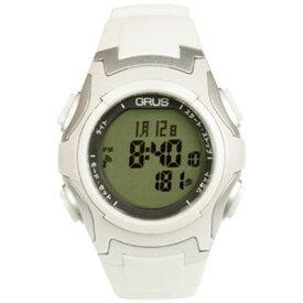 2e4a1a76b3 GRUS 腕時計 電波 ウォーキングウォッチ ペースキーパー機能付 GRS005-02