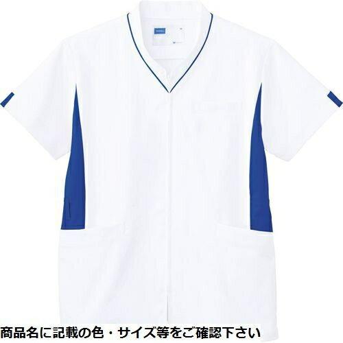 その他 自重堂 男女兼用スクラブ WH12085(ホワイトブルー) S CMD-0087754701