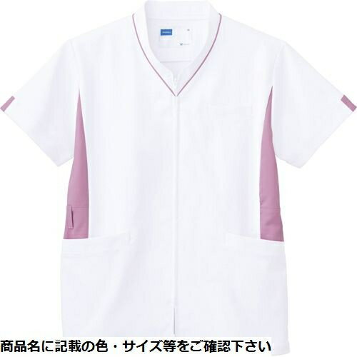 その他 自重堂 男女兼用スクラブ WH12085(ホワイトピンク) LL CMD-0087754804