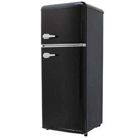 エスキュービズム 2ドア レトロ冷凍/冷蔵庫 115L (オールドブラック) WRE-2115K