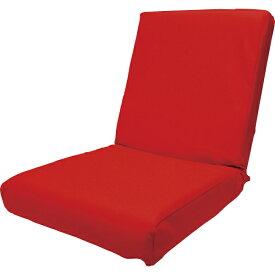その他 低反発レザー座椅子 レッド 4562304848611【納期目安:01/下旬入荷予定】