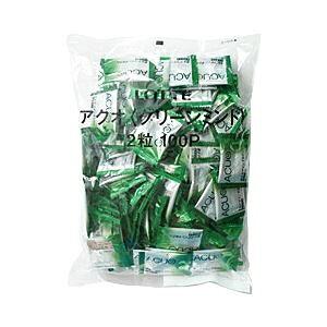 その他 【まとめ買い】ロッテ ACUO グリーンミント 1袋(2粒×100パック) ds-1099943