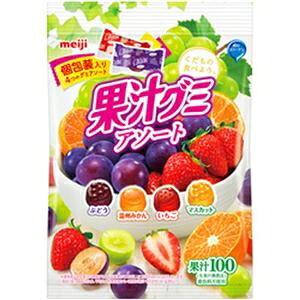 その他 (まとめ)明治 果汁グミアソート個包装    1パック(90g)【×10セット】 ds-2182444