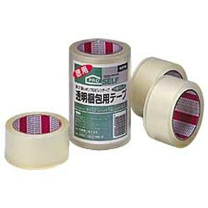 その他 ニットー 透明梱包用テープ カッターなし 1パック/3巻 1箱(20パック) ds-2184398
