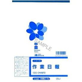 その他 (まとめ)日本法令 法令用紙 ノーカーボン作業日報 B5サイズ 1冊(20枚) 労務51-N【×10セット】 ds-2184536