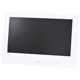 グリーンハウス 7インチ デジタルフォトフレーム(1024*600) ホワイト GH-DF7U-WH