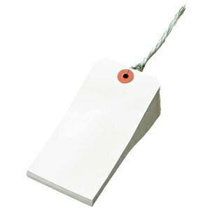 その他 (まとめ) TANOSEE 再生紙針金荷札 2号 60×120mm 1箱(1000枚) 【×5セット】 ds-2222374
