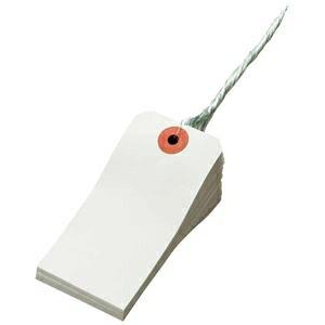 その他 (まとめ) TANOSEE 再生紙針金荷札 4号 45×90mm 1箱(1000枚) 【×5セット】 ds-2222384