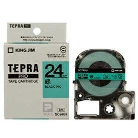 その他 (まとめ) キングジム テプラ PRO テープカートリッジ パステル 24mm 緑/黒文字 SC24G 1個 【×10セット】 ds-2227676