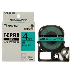 その他 (まとめ) キングジム テプラ PRO テープカートリッジ パステル 4mm 緑/黒文字 SC4G 1個 【×10セット】 ds-2228185