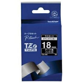 その他 (まとめ) ブラザー BROTHER ピータッチ TZeテープ ラミネートテープ 18mm 黒/白文字 TZE-345 1個 【×10セット】 ds-2228245