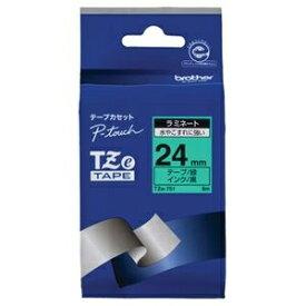 その他 (まとめ) ブラザー BROTHER ピータッチ TZeテープ ラミネートテープ 24mm 緑/黒文字 TZE-751 1個 【×10セット】 ds-2228256