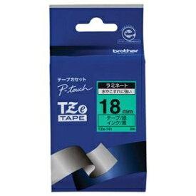 その他 (まとめ) ブラザー BROTHER ピータッチ TZeテープ ラミネートテープ 18mm 緑/黒文字 TZE-741 1個 【×10セット】 ds-2228257