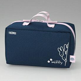 サーモス 保温弁当箱 DBQ-254 ポーチ ネイビーピンク B370745