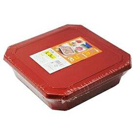 その他 (まとめ) フードパック/赤飯パック 【Lサイズ 3組入り】 フタ付き 〔弁当箱 使い捨て容器 プラスチック容器〕 【60個セット】 ds-2259151