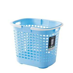 その他 (まとめ) S-ロングバスケット/収納かご 【ブルー】深型 持ち手付き 洗濯かご 脱衣かご おもちゃ収納 【20個セット】 ds-2259342