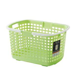 その他 (まとめ) S-ライトバスケット/収納かご 【グリーン】 持ち手付き 積み重ね可 洗濯かご 脱衣かご おもちゃ収納 【24個セット】 ds-2259346