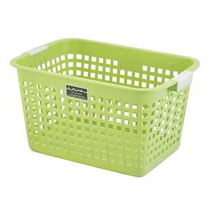 その他 (まとめ) ニューキングバスケット/収納かご 【グリーン】 持ち手付き 洗濯かご おもちゃ収納 クローゼット収納 【16個セット】 ds-2259364