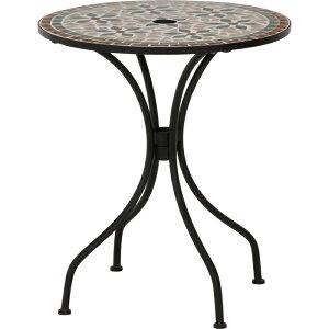 不二貿易 モザイクテーブル 花柄 FJ-10657