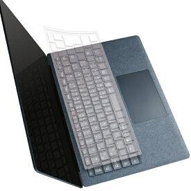 エレコム Microsoft Surface Laptop 3 2019年モデル 対応 キーボード カバー ナイロン製 抗菌 加工 耐熱 / 耐寒 クリア PKB-MSL3