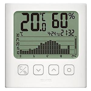 その他 (まとめ)タニタ グラフ付きデジタル温湿度計ホワイト TT-580-WH 1個【×3セット】 ds-2311865