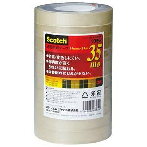 その他 (まとめ)3M スコッチ 透明粘着テープ15mm×35m 500-3-1535-10P 1パック(10巻)【×10セット】 ds-2300811