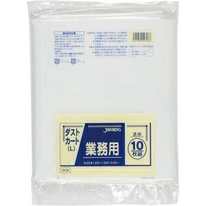 その他 (まとめ)ジャパックス 業務用ダストカート用ごみ袋透明 150L DK98 1パック(10枚)【×10セット】 ds-2301045
