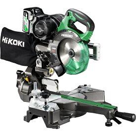 HiKOKI(日立工機) 【職人さん応援キャンペーン!!】【36V】【MULTI VOLT(マルチボルトシリーズ)】コードレス卓上スライド丸のこ(マルチボルト蓄電池*1個/急速充電器/チップソー付属) C3606DRB(XP)