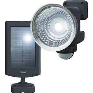 その他 ムサシ ダンケ 1.3W×1灯フリーアーム式LEDソーラーセンサーライト E4615L 1台 ds-2294304