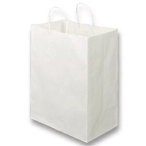 その他 (まとめ)TANOSEE 紙手提袋 丸紐マチ広・大 ヨコ350×タテ440×マチ幅210mm 白無地 1パック(50枚)【×2セット】 ds-2296024