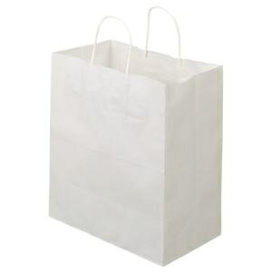 その他 (まとめ)TANOSEE 紙手提袋 丸紐マチ広・中 ヨコ320×タテ350×マチ幅180mm 白無地 1パック(50枚)【×5セット】 ds-2298824