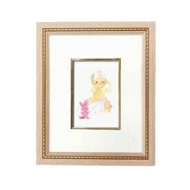 その他 淡い色使いで優しい色調■いわさきちひろ絵画額 ピンク ピンクのウサギと赤ちゃん ds-2313078