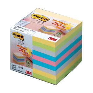 スリーエム ポストイットノート再生紙カラーキューブM CPRP-Y-22SE 4548623040226