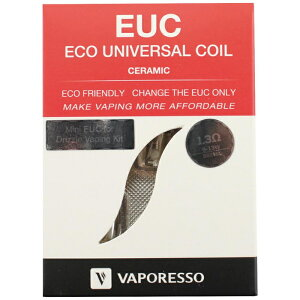 その他 電子VAPE VAPORESSO EUC エコセラミック コイル(1.3Ω)5pcs CMLF-1388748