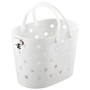 その他 不動技研 ニュードットEバスケット ホワイト F2459 (洗濯かご レジャー 収納 カゴ 持ち手 付き) ds-2336792
