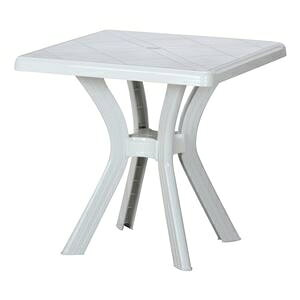 その他 PC スクエアテーブル ホワイト 幅73×奥行73×高さ73cm 組立品 ds-2338305