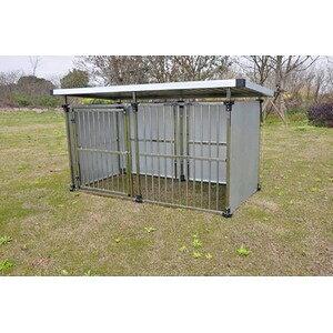その他 ドッグハウス DFS-M1 (0.5坪タイプ屋外用犬小屋) 中型犬 大型犬 犬小屋 ステンレス製【代引不可】 ds-2343421