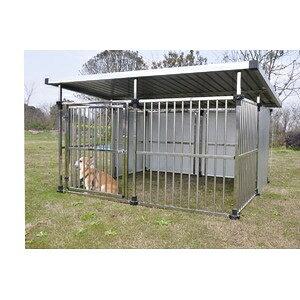 その他 ドッグハウス DFS-M2 (1坪タイプ屋外用犬小屋) 大型犬 犬小屋 ステンレス製 組立品【代引不可】 ds-2343422