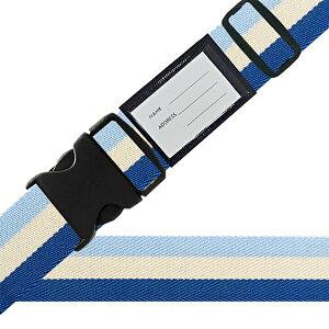 その他 スーツケースベルト ワンタッチベルト 国旗柄 ブルー CMLF-1218686【納期目安:1週間】