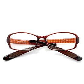 その他 折りたたみ首掛け老眼鏡 スクエア ブラウンチェック LT-6501-2 度数(+3.50) CMLF-1089280